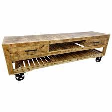 tv lowboard möbel sideboard mit rädern schrank massiv holz wohnzimmer design