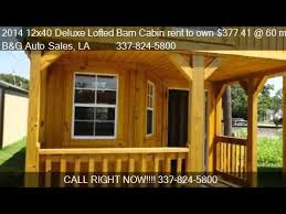 14x40 Cabin Floor Plans by 2014 12x40 Deluxe Lofted Barn Cabin Rent To Own 377 41 60 Youtube