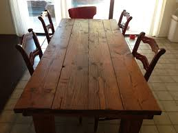 Hand Crafted Rustic Farmhouse Dining Table By Kalani Alii Wood Works