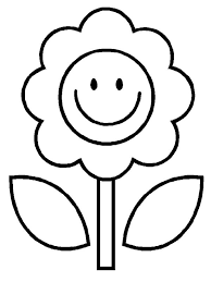 Easy Flower Coloring Page For Kids