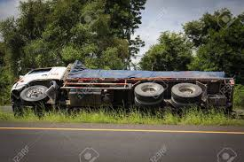 Overturned Truck Accident On Highway Road. Stock Photo, Picture And ... A View Of An Overturned Truck On Highway In Accident Stock Traffic Moving Again After Overturned 18wheeler Dumps Trash On Truck Outside Of Belvedere Shuts Down Sthbound Rt 141 Us 171 Minor Injuries Blocks 285 Lanes Wsbtv At Millport New Caan Advtiser Drawing Machine Photo Image Road Brutal Winds Overturn Trucks York Bridge Abc13com Dump Blocks All Northbound Lanes I95 In Rear Wheels Skidded Royalty Free