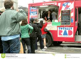 100 Brooklyn Food Trucks Customers Line Up At A Truck Editorial Image Image Of Army