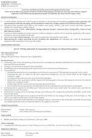 General Manager Resume Procurement Sample Hotel