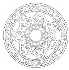 Coloring Pages Free Printable Holiday For Adults Only With Dementia Geometric Mandala Book