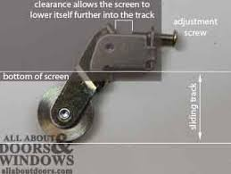 Peachtree Patio Door Replacement by How To Adjust Peachtree Sliding Screen Door Rollers