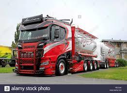 100 Bulk Truck And Transport ALAHARMA FINLAND AUGUST 10 2018 New Scania R580 Bulk Transport