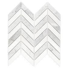 splashback tile dart white carrara and bardiglio 10 3 4 in x 10 3