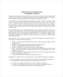 8 Confidentiality Agreement Form Templates – Free Sample Example
