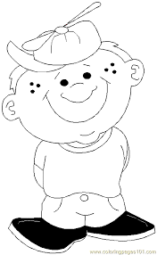Boy Coloring Page 11