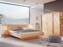 zirbenbett valentina mit fräsung zimmer schlafzimmer