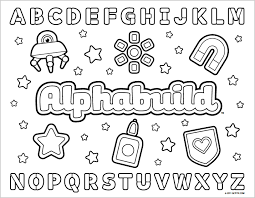 Abc Coloring Pages Marstopeka