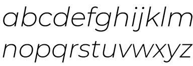 Montserrat Light Italic Font