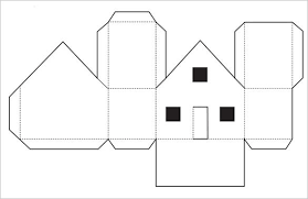 3D Paper House Template Printable