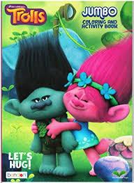 Dreamworks Trolls Lets Hug Jumbo Coloring And Activity Book
