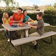 lifetime kids folding picnic table almond this would be great