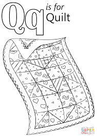 Click The Letter Q Is For Quilt Coloring