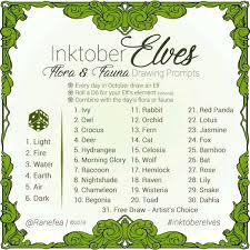 Inktober2018 Alternative Prompt List Inktober Pinterest Elf