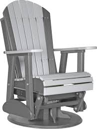 luxcraft poly 2ft swivel adirondack style glider chair swingsets
