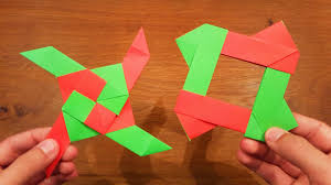 How To Make A Paper Transforming Ninja Star 2 Origami