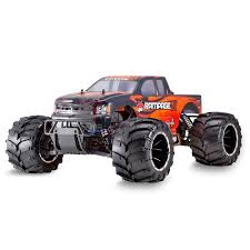 1/5 Rampage MT V3 4WD Gas Monster Truck RTR, Orange Flame (RER06334 ...