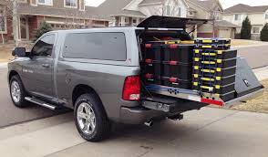 Truck Accessory: 4,000-lb. Capacity Truck Bed Slide-out Cargo Tray ... Auto Styling Truckman Improves Truck Bed Access With The New Slide In Tool Box For Truck Bed Alinum Boxes Highway Products Mercedes Xclass Sliding Tray 4x4 Accsories Tyres Bedslide Any One Have Extendobed Hd Work And Load Platform 2012 On Ford Ranger T6 Bedtray Classic Style With Plastic Storage Vehicles Contractor Talk Cargo Ease Titan Series Heavy Duty Rear Sliding Pickup Storage Drawer Slides Camper Cap World Cargoglide 1000 1500hd