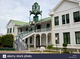 Belize City Supreme Court Building Built 1926 Classic British Colonial Style Architecture Dome Topped Clock Tower