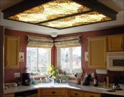 lighting ideas decorative fluorescent kitchen light fixture cover