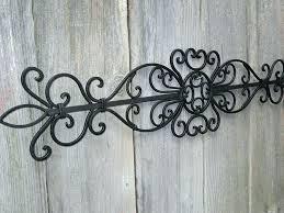 Wrought Iron Garden Wall Art Black Rod Decor Image Of
