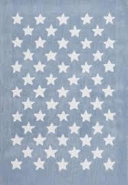 tapis de chambre fille tapis salon 120x170cm etoile chambre vintage en acrylique blue