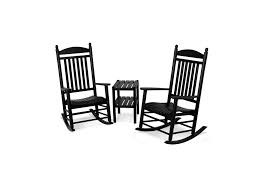 Jefferson 3-Piece Rocker Set Polywood Pws11bl Jefferson 3pc Rocker Set Black Mahogany Patio Wrought Iron Rocking Chair Touch To Zoom Outdoor Cu Woven Traditional That Features A Comfortable Curved Seat K147fmatw Tigerwood With Frame Recycled Plastic Pws11wh White Outdoor Resin Rocking Chairs Youll Love In 2019 Wayfair Wooden All Weather Porch Rockers Vermont Woods Studios
