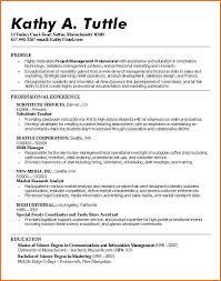 Undergraduate Resume Examples No Experience Student High School