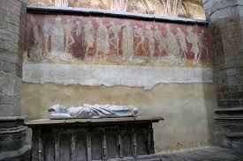 abbaye de la chaise dieu abbatiale de la chaise dieu fresque de la danse macabre fragment