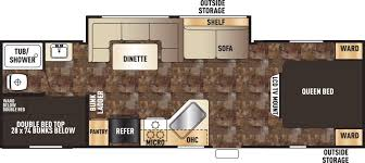 Fifth Wheel Bunkhouse Floor Plans by Forest River Greywolf Rvs For Sale In Louisiana