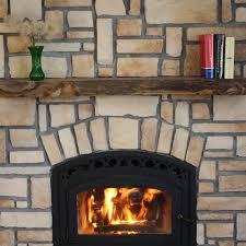 kettle moraine hardwoods bennett natural rustic walnut mantel