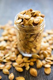 Toasting Pumpkin Seeds In Microwave by Roasted Spicy Seasoned Pumpkin Seeds U2014 Tastes Lovely