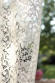 Curtain Fabric By The Yard by Christine U0027 Full Lenght Ivory Cream Grey Brown Colored Vintage