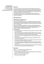 Pharmacist CV Resume Template Example