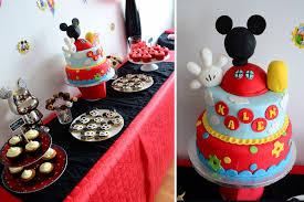 décoration gâteau anniversaire mickey