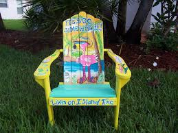 Navy Blue Adirondack Chairs Plastic by Tropical Adirondack Chair Handcrafted Hand Painted Flamingo Beach