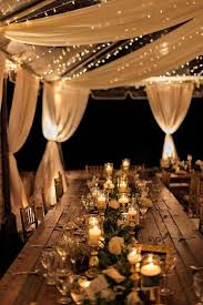 Candles On The Tables And Light Strings Over Reception Will Make A Cool Ambience