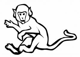 Free Snow Monkey Coloring Page