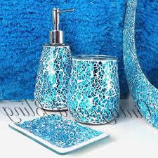 Teal Color Bathroom Decor by Aqua Bathroom Accessories Realie Org