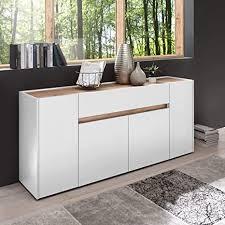 newfurn sideboard kommode modern anrichte highboard mehrzweckschrank ii 170x85x 40 cm bxhxt ii lennox four in weiß weiß wohnzimmer schlafzimmer
