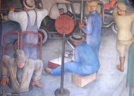 Coit Tower Murals Diego Rivera by Labor Fest Coit Tower Wpa Mural Presentation Indybay