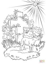 Coloring Page Lamb Easter Pages