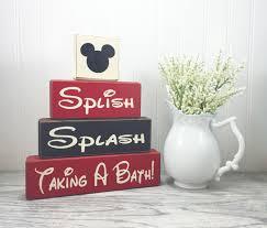 mickey mouse bathroom decor splish splash taking a bath apple