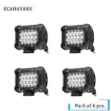54w 5 inch led light bar spot 12v 24v ip68 atv suv work light