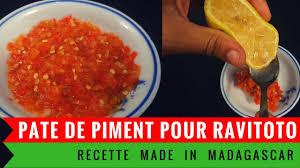recette de cuisine malagasy purée de piment de madagascar pour le ravitoto cuisine