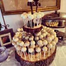 Rustic Cake Pop Stand For Rehearsal Dinner