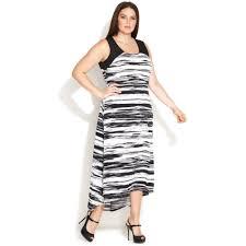 calvin klein size sleeveless printed highlow maxi dress in